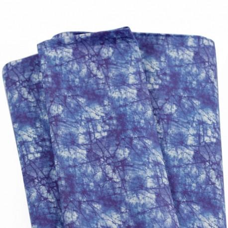 tela estilo japones tintado shibori azul mar