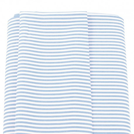 tela rayas marineras azul claro
