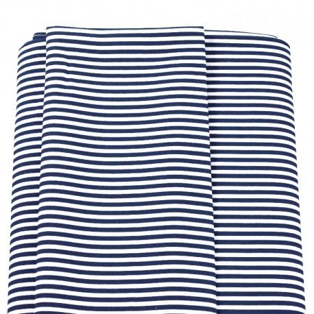 tela rayas marineras azul marino