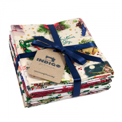 DECEMBER FAT QUARTER BUNDLE INDIGO - 6 UDS (PERCAL) ED