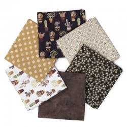 FAT QUARTER VERA BROWN - PACK 6 UDS (PERCAL)