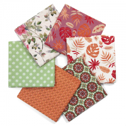 FAT QUARTER GARDEN - PACK 6 UDS (PERCAL)