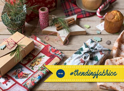 Trending fabrics Navidad Indigo Fabrics
